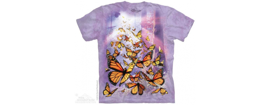 The Mountain Artwear Birds and Butterflies Girls Shirts