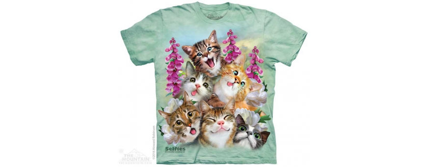 The Mountain Artwear Cats And Kittens Girls Shirts