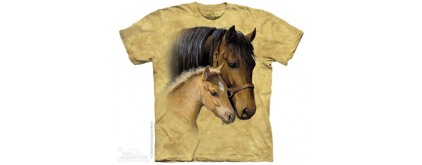 The Mountain Artwear Horses Girls Shirts