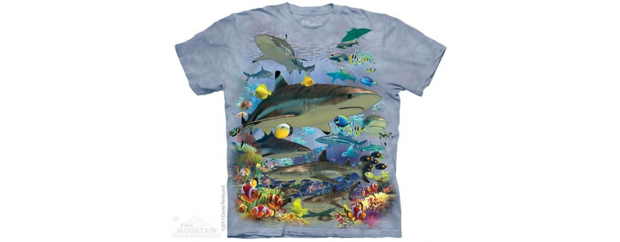 The Mountain Artwear Sharks, Whales And Ocean Life Boys Shirts