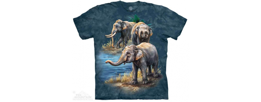The Mountain Artwear Elephants Boys Shirts